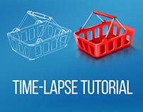 Tutorial Time-Lapse | Icon shopping basket