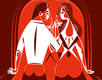 Various Valentine illustrations.