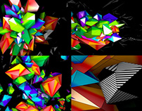 Color 3D Mapping - VJ Loop Pack (3in1)