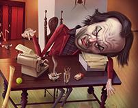 The Shining Jack Nickolson Portrait / Caricature