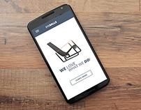 Simple Home Page Design App