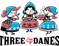 "Logo for ""Three Danes Baking Company"" in Austin"