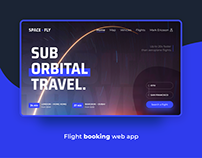 Spacefly - Flight Booking Web App | Concept Design