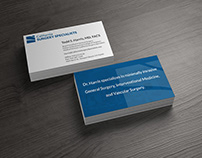 Business Cards for California Surgery Specialists
