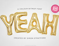 Yeah foil balloon colour font