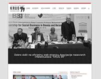 """Web for Asocijaciju nezavsnih intelektualaca """"KRUG 99"""""""