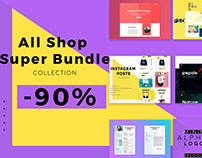 Free portfolio &All Shop Super Bundle -90%