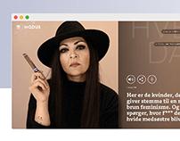 Redaktionelt design UX / UI