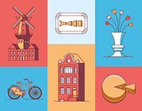 Amsterdam Guide Book Icons