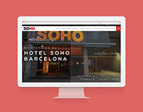 Hotel Soho Barcelona - Website redesign