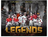 Baseball sports themed photography template