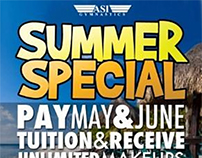 ASI Gymnastics Summer Special Flyer