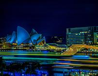 Sydney Harbour Light Trails
