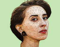 Polygonal Girl Art portrait