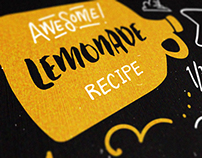 A type-based lemonade recipe card