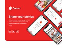 Cutnut - share stories, mobile and desktop