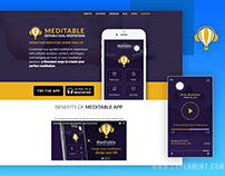 Meditable Product Website