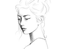 Fashion portraits - illustration work 2016