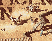 The Magnificent Seven alternative screen printed poster