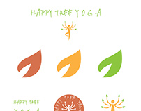 HAPPY TREE YOGA - branding board