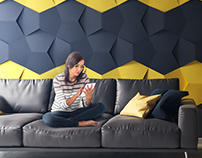 3D WALL PANELS VIZUALISATION