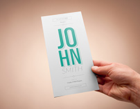 Free Vertical Resume Template for Best Impression