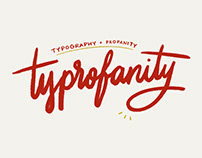 Typography + Profanity type series