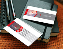 Corporate Business card with free mock-up