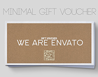 Minimal style - gift voucher template