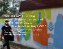 Wrocław Leśnica / mural / WYD 2016