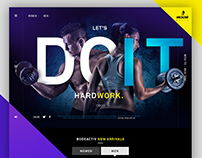 Fitness Fashion BODE Active UI Re-Design.
