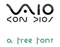 Vaio Con Dios: Logo inspired Font