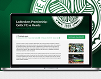 Celtic FC Responsive Website