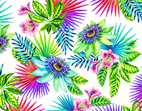 Passion Fruit, watercolor pattern