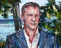Fashion Illustration for Thom Sweeney - Daniel Craig