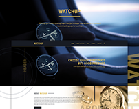 Landing page Design for Watchup