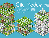 City module creator school town