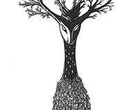 """Inktober #1: """"Devil's mountain tree"""""""