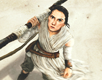 Rey - Star Wars w/Process