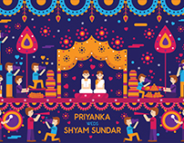Vivid Indian Wedding Invitation
