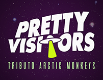PRETTY VISITORS. Logo e capa de facebook