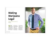 Making Marijuana Legal – magazine feature design