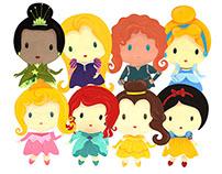 Projeto de Ilustração - Princesas Disney