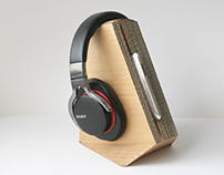 Cardboard Headphone Stand