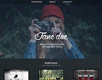 Photography Website Mockup
