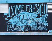 Pesca Fresca restaurant in Fajardo, 4 murals