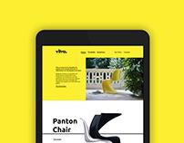 Maquette site web vitra