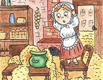 Иллюстрация к сказке, book illustration