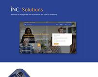 INC Solutions website re design