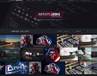 Artists and Geeks site mockup